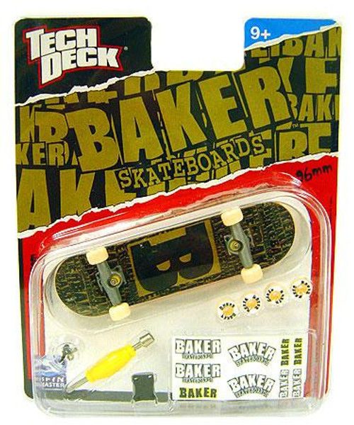 Tech Deck Baker 96mm Mini Skateboard [Greenish Brown & Black]