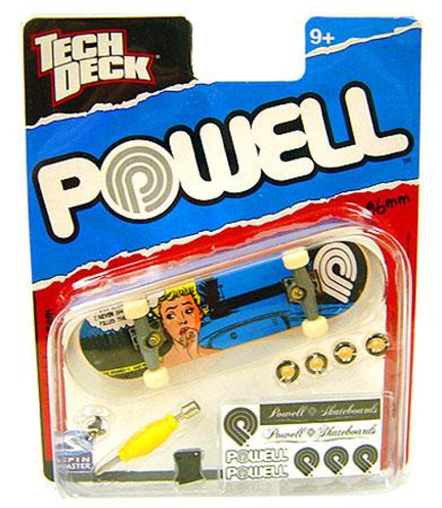 Tech Deck Powell 96mm Mini Skateboard [Blue Pop Art Woman]