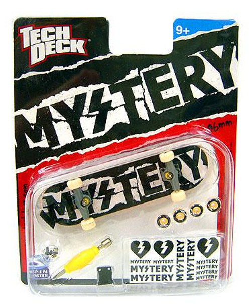 Tech Deck Mystery 96mm Mini Skateboard [Black & White Ripped]