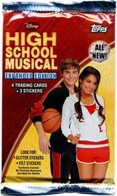 Disney High School Musical 2 Expanded Edition Trading Card Sticker Pack