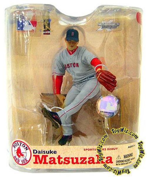 McFarlane Toys MLB Sports Picks Series 21 Daisuke Matsuzaka (Boston Red Sox) Action Figure [Gray Jersey & Patch]