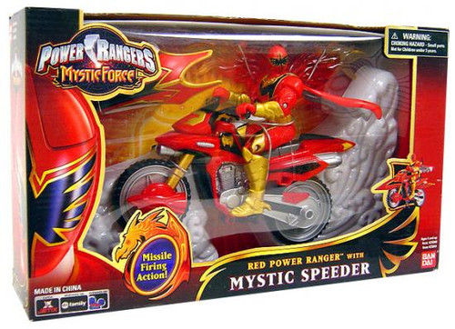 Power Rangers Mystic Force Red Power Ranger with Mystic Speeder Action Figure