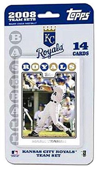 MLB 2008 Topps Baseball Cards Kansas City Royals Team Set