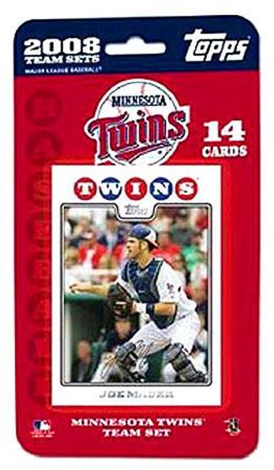 MLB 2008 Topps Baseball Cards Minnesota Twins Team Set