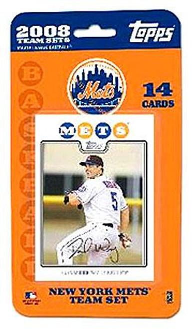 MLB 2008 Topps Baseball Cards New York Mets Team Set