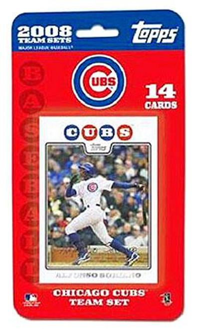 MLB 2008 Topps Baseball Cards Chicago Cubs Team Set