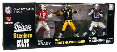 McFarlane Toys NFL Sports Picks 3-Packs Elite Club Quarterbacks Exclusive Action Figure 3-Pack
