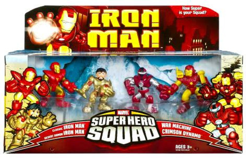 Iron Man Movie Superhero Squad Crimson Dynamo Attacks Action Figure Set