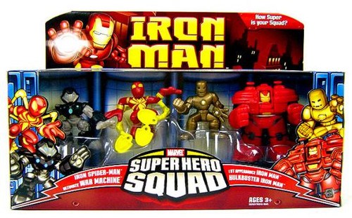 Iron Man Movie Superhero Squad Genius of Tony Stark Action Figure Set
