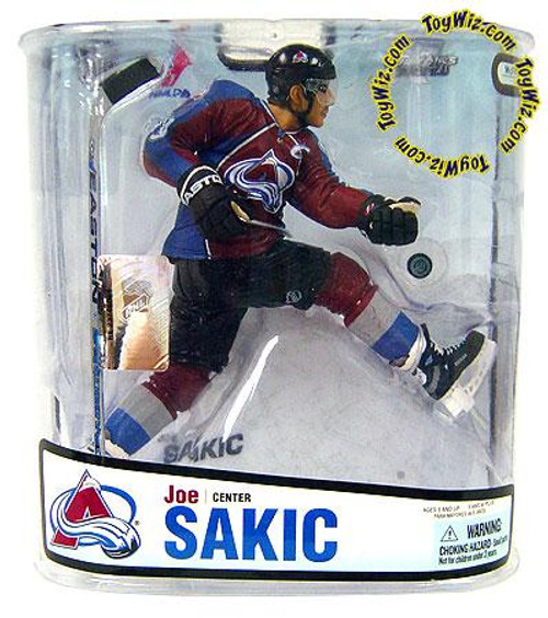McFarlane Toys NHL Colorado Avalanche Sports Picks Series 18 Joe Sakic Action Figure [Maroon Jersey Variant]