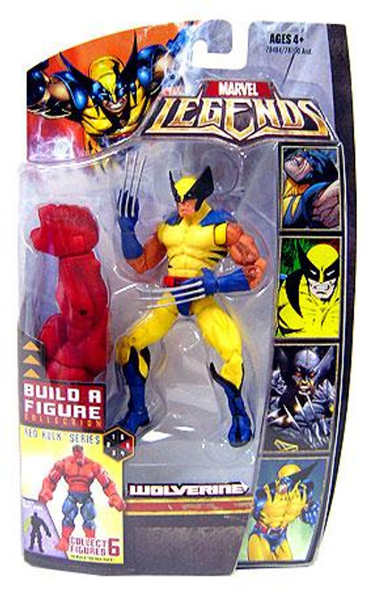 Marvel Legends Red Hulk Build a Figure Wolverine Exclusive Action Figure