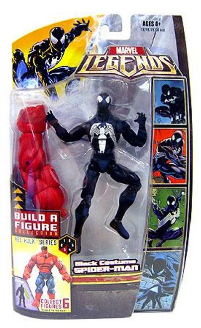 Marvel Legends Red Hulk Build a Figure Black Suit Spider-Man Exclusive Action Figure