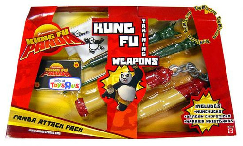 Kung Fu Panda Training Weapons Panda Attack Pack Exclusive Roleplay Toy