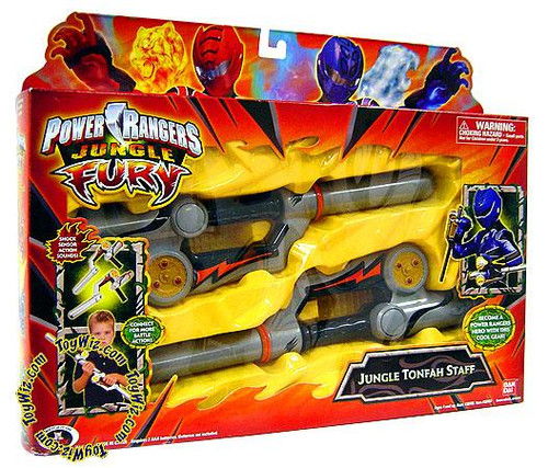Power Rangers Jungle Fury Jungle Tonfah Staff Roleplay Toy