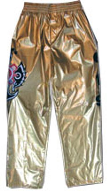 WWE Wrestling WCW Rey Mysterio Replica Pants [Gold]