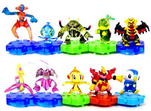 Pokemon Japanese Connecting Figures Series 3 Set of 10 Connecting PVC Figures [Translucent]