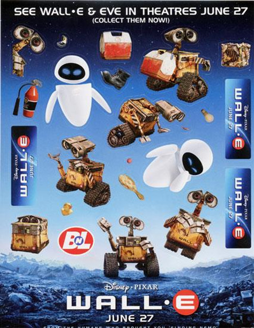 Disney / Pixar Wall-E Sticker Sheet