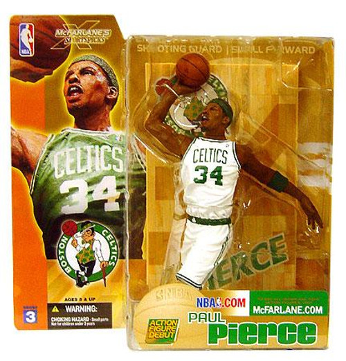 McFarlane Toys NBA Boston Celtics Sports Picks Series 3 Paul Pierce Action Figure [White Jersey Variant]