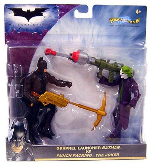 The Dark Knight Grapnel Launcher Batman & Punch Packing Joke Action Figure 2-Pack