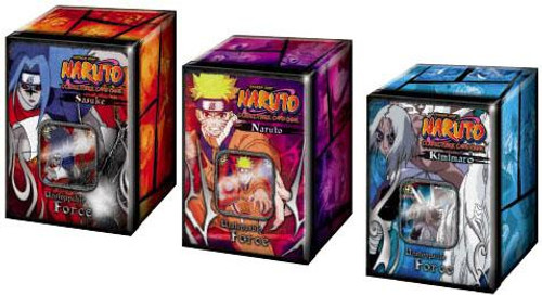 Naruto Card Game Set of 3 Unstoppable Force Collector Collector Tins