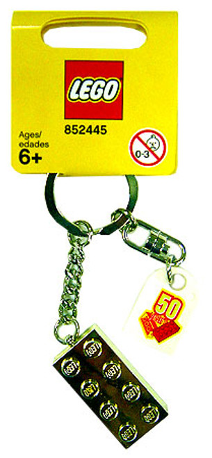 LEGO 50th Anniversary Gold Brick Keychain