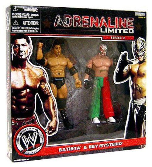 WWE Wrestling Adrenaline Limited Series 9 Batista & Rey Mysterio Exclusive Action Figure 2-Pack