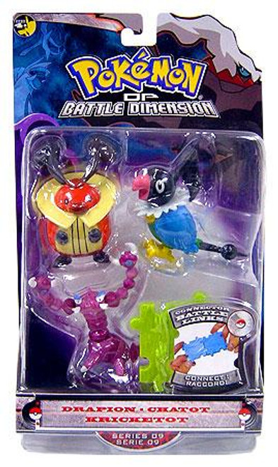 Pokemon Diamond & Pearl Series 9 Drapion, Chatot & Kricketot Figure 3-Pack