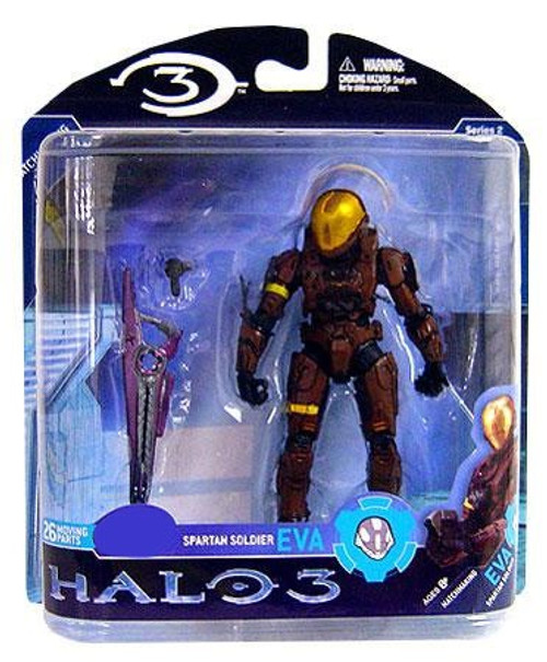 McFarlane Toys Halo 3 Series 2 Spartan Soldier EVA Exclusive Action Figure [Brown]