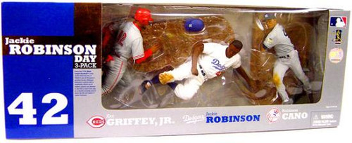 McFarlane Toys MLB Sports Picks Exclusive 3-Pack Jackie Robinson Day Exclusive Action Figure 3-Pack