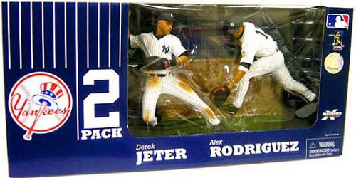 McFarlane Toys MLB New York Yankees Sports Picks Exclusive 2-Pack Derek Jeter & Alex Rodriguez Exclusive Action Figure 2-Pack
