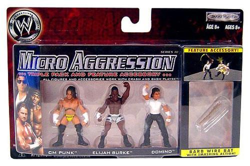 WWE Wrestling Micro Aggression Series 10 Mini Figure 3-Pack