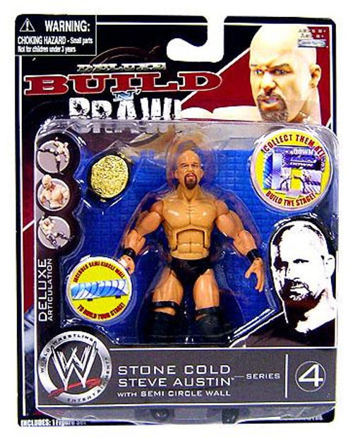 WWE Wrestling Build N' Brawl Series 4 Stone Cold Steve Austin Action Figure