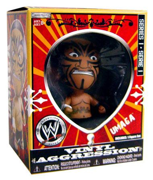 WWE Wrestling Vinyl Aggression Series 1 Umaga 3-Inch Vinyl Figure