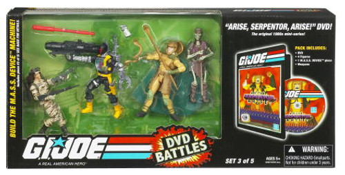 GI Joe DVD Battles Arise Serpentor Arise Action Figure Set #3
