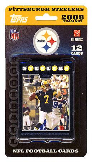 NFL 2008 Topps Football Cards Pittsburgh Steelers Team Set