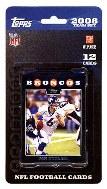 NFL 2008 Topps Football Cards Denver Broncos Team Set