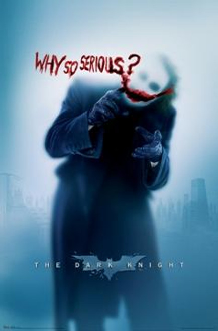 Batman The Dark Knight Movie Poster #9347 [Joker - Why So Serious?]
