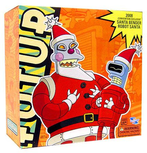 Futurama Santa Bender & Robot Santa Exclusive Action Figure 2-Pack