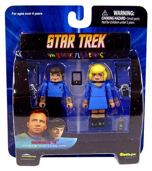 Star Trek The Original Series MiniMates Series 4 Sick Bay Dr. McCoy & Nurse Chapel Minifigure 2-Pack