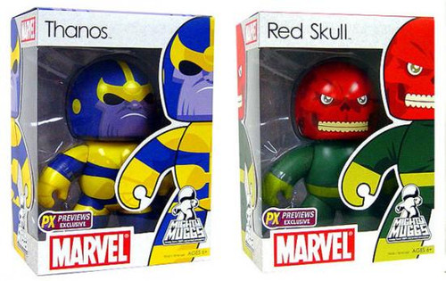 Marvel Mighty Muggs Exclusives Thanos & Red Skull Exclusive Vinyl Figures