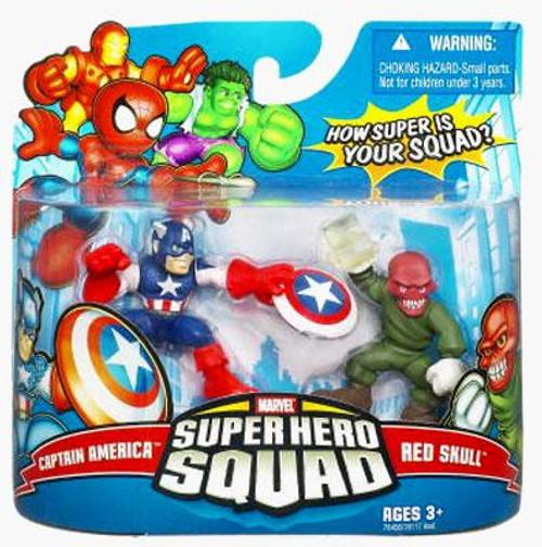 Marvel Super Hero Squad Series 9 Captain America & Red Skull Action Figure 2-Pack