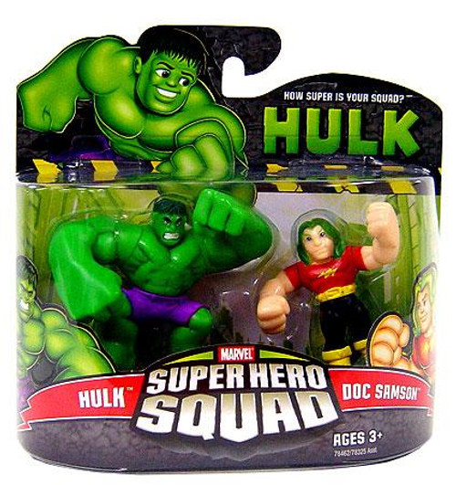 Marvel Super Hero Squad Hulk Movie Series 3 Hulk & Doc Samson Action Figure 2-Pack