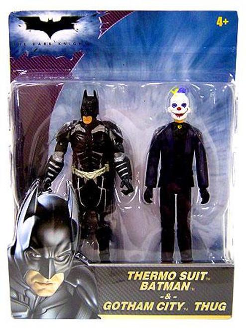 The Dark Knight Thermo Suit Batman & Gotham City Thug Mini Figure 2-Pack