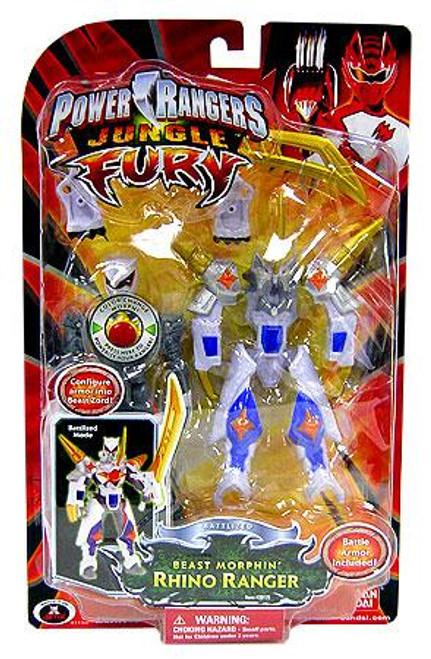 Power Rangers Jungle Fury Battlized Beast Morphin Rhino Ranger Action Figure
