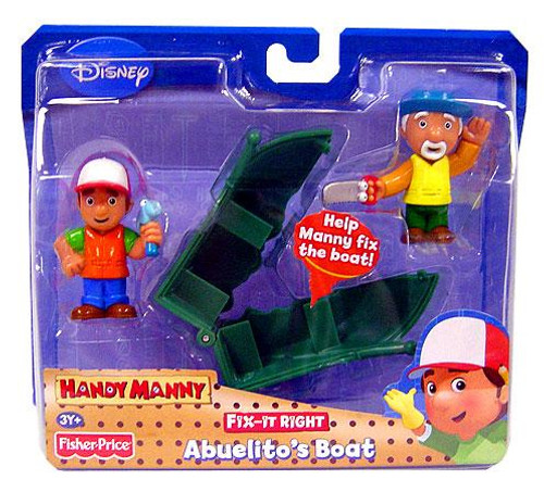 Fisher Price Disney Handy Manny Fix-It Right Abuelito's Boat Figure 2-Pack