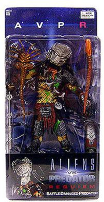 NECA Alien vs Predator AVP Requiem Series 4 Battle Damaged Predator Action Figure [Masked Wolf]