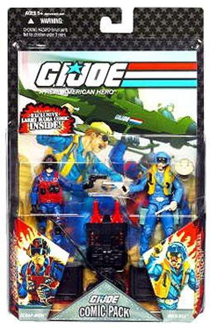 GI Joe 25th Anniversary Wave 6 Comci Pack Scrap Iron & Wild Bill Action Figure 2-Pack