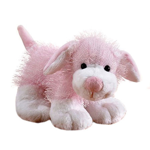 Webkinz Pink & White Dog Plush