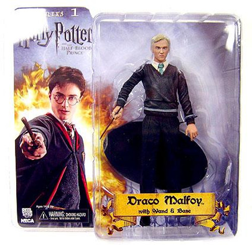 NECA Harry Potter The Half Blood Prince Draco Malfoy Action Figure [With Wand & Base]