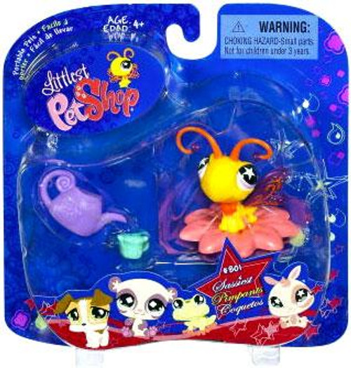 Littlest Pet Shop 2009 Assortment A Series 1 Butterfly Figure #801 [Flower Perch & Watering Can]